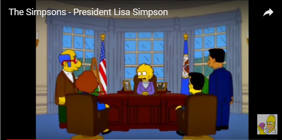 Simpsons Lisa President